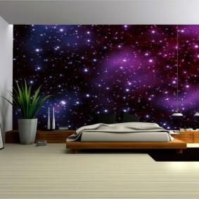обои космос в комнате фото вариантов