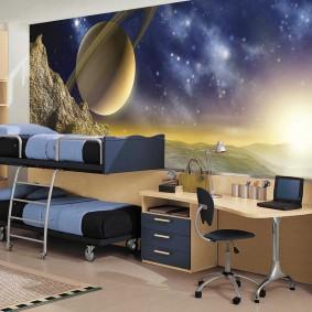обои космос в комнате варианты идеи