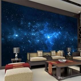 обои космос в комнате виды фото