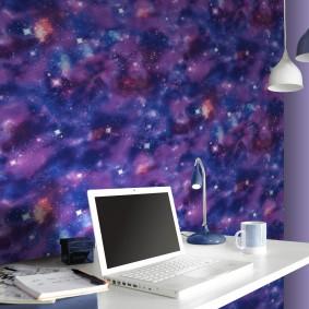 обои космос в комнате фото идеи