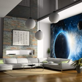 обои космос в комнате фото видов
