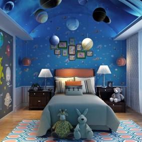 обои космос в комнате виды идеи
