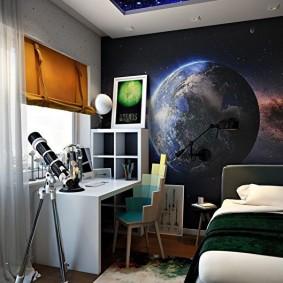 обои космос в комнате идеи виды
