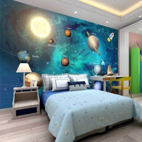обои космос в комнате виды дизайна