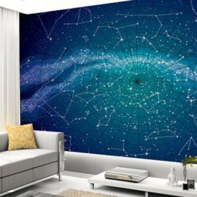 обои космос в комнате виды декора