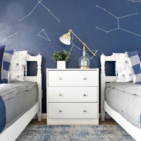 обои космос в комнате дизайн