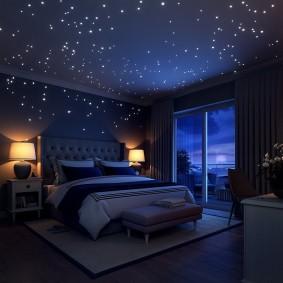 обои космос в комнате дизайн фото