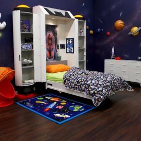 обои космос в комнате идеи дизайн