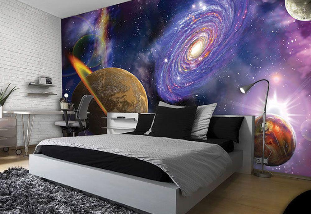 обои космос в спальне