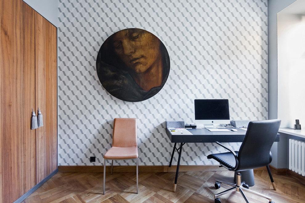Выбор обоев для оклейки стен в домашнем кабинете