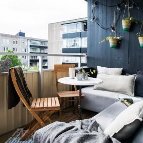обустройство балкона и лоджии идеи фото