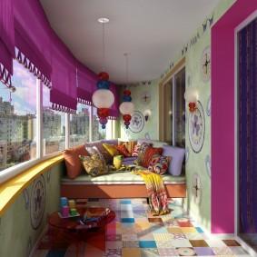 обустройство балкона и лоджии фото интерьер