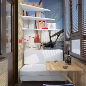 обустройство балкона и лоджии интерьер идеи
