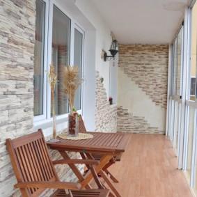 обустройство балкона и лоджии оформление