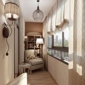 обустройство балкона и лоджии виды декора