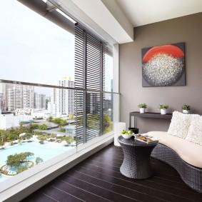 обустройство балкона и лоджии фото дизайна