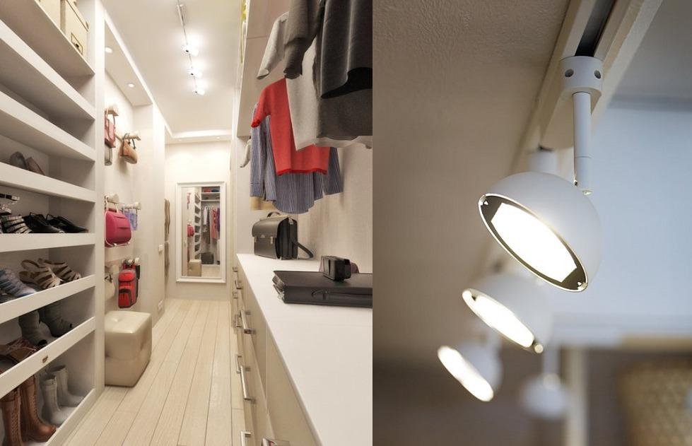 гардеробная комната в хрущевке освещение