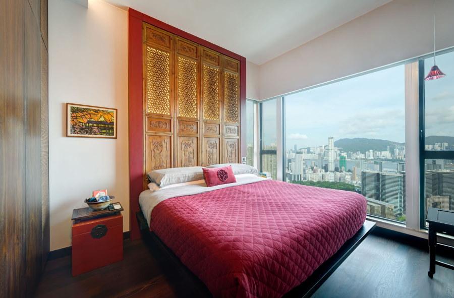 Панорамное окно в спальне по фен-шуй