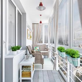 освещение на балконе фото интерьера