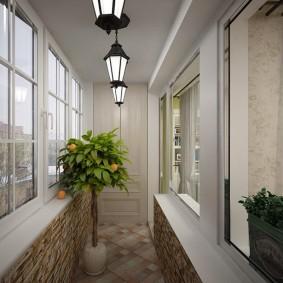 освещение на балконе идеи