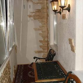 освещение на балконе оформление