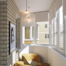 освещение на балконе варианты идеи