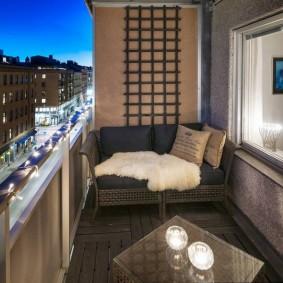 освещение на балконе фото дизайна
