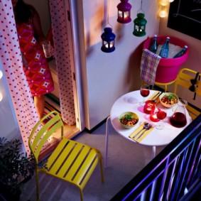 освещение на балконе идеи дизайна
