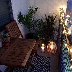 освещение на балконе фото декор