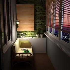 освещение на балконе интерьер идеи
