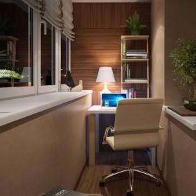 освещение на балконе фото интерьер