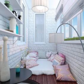 освещение на балконе декор фото