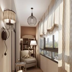 освещение на балконе интерьер фото
