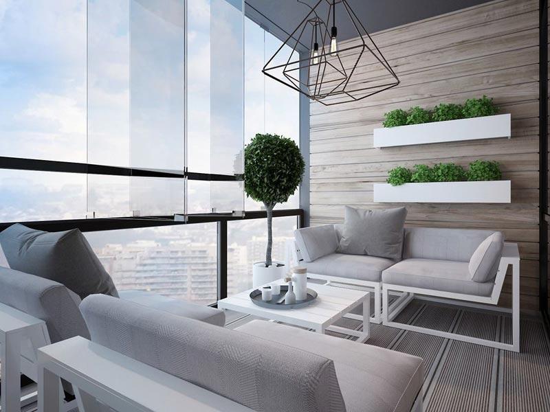 освещение на балконе варианты фото