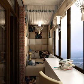 освещение на балконе виды фото