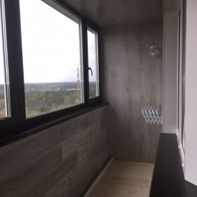 отделка балкона ламинатом фото декор