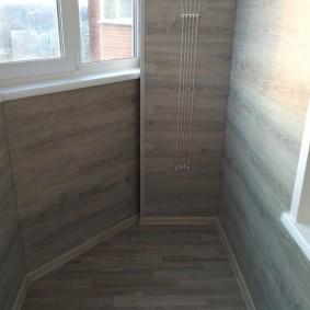 отделка балкона ламинатом фото оформления