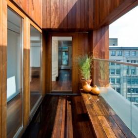 отделка балкона ламинатом идеи оформления