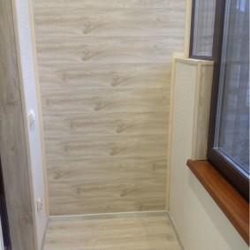 отделка балкона ламинатом фото