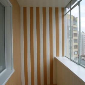 отделка балкона пластиковыми панелями дизайн идеи