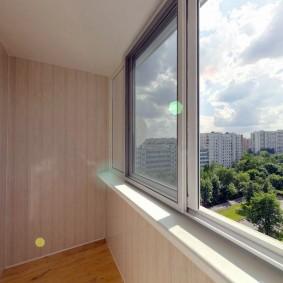 отделка балкона пластиковыми панелями идеи дизайн