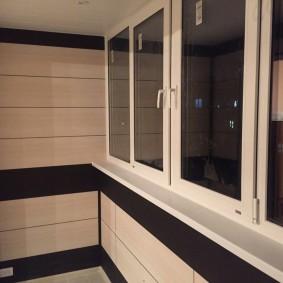 отделка балкона пластиковыми панелями идеи декор