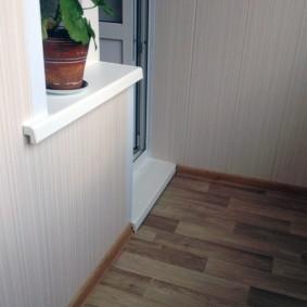 отделка балкона пластиковыми панелями идеи интерьера