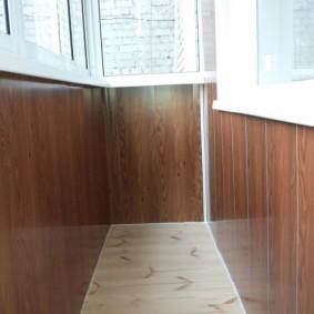 отделка балкона пластиковыми панелями оформление фото