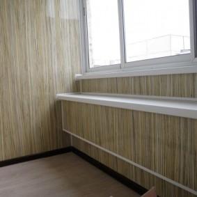 отделка балкона пластиковыми панелями фото варианты