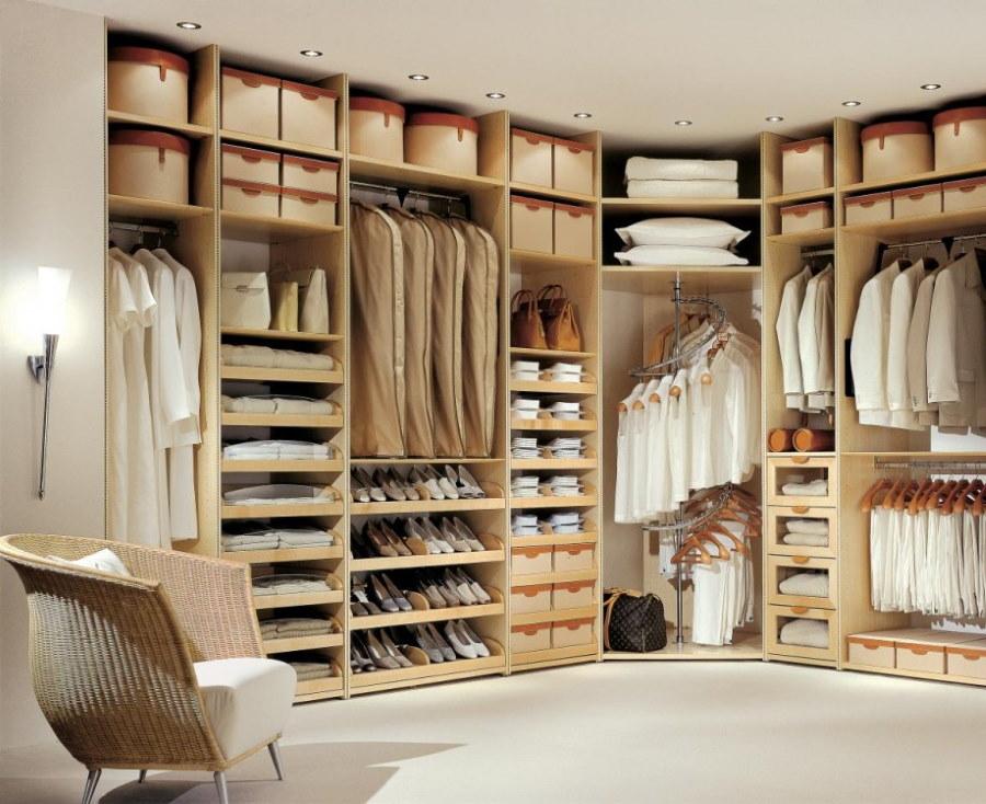 Наполнение шкафов в отдельной гардеробной