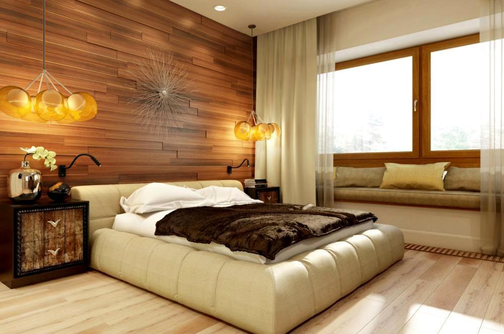 панели мдф в спальне