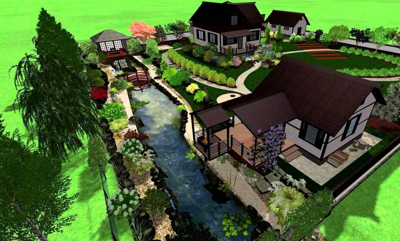 планировка участка с домом