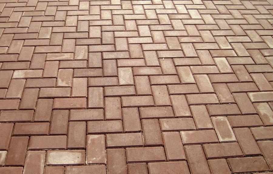 Фото тротуарной плитки в форме кирпичика