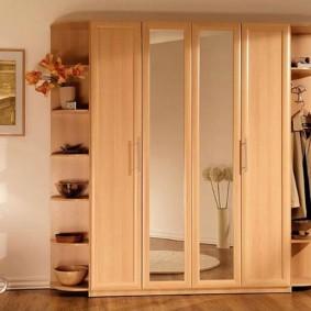 распашной шкаф в прихожую фото дизайн